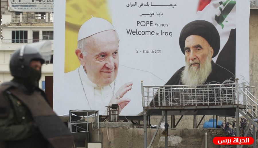 A historic meeting in Najaf between the Pope and the Iraqi religious authority, Ali al-Sistan