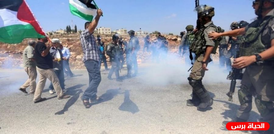 Israeli army attack anti-settlement protest east of Nablus