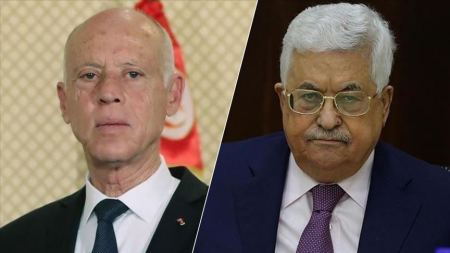 President Abbas discusses grave situation with Tunisian counterpart