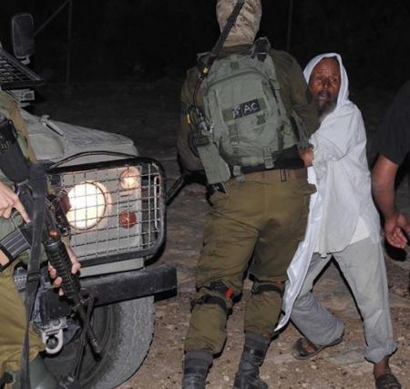 Israeli occupation forces detain a dozen Palestinians in raids at their homes in the occupied territories