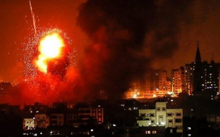 Israeli warplanes assault targets south of Gaza