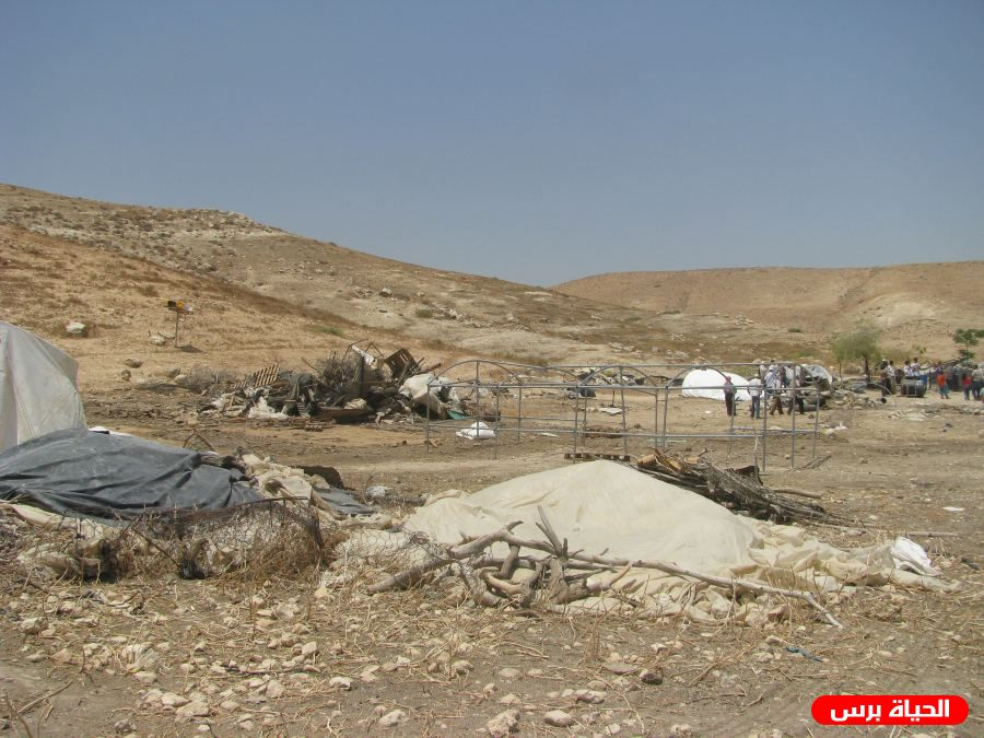 Israel to remove residential tent in northern Jordan Valley